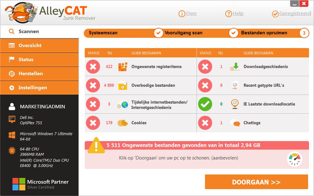 AlleyCAT Junk Remover Screenshot 10