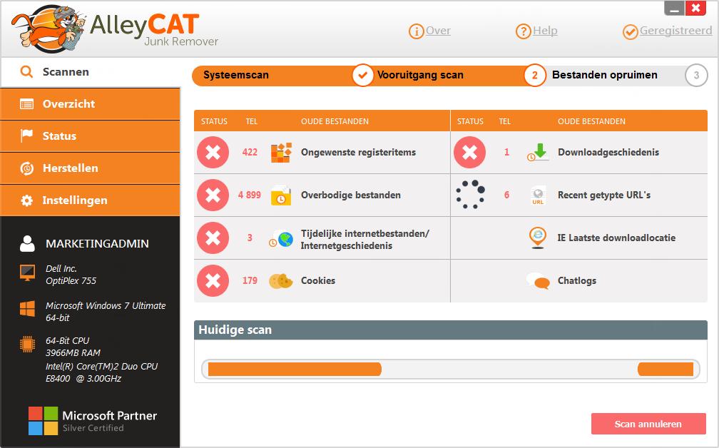 AlleyCAT Junk Remover Screenshot 9