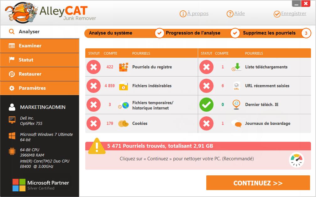 AlleyCAT Junk Remover Screenshot 6