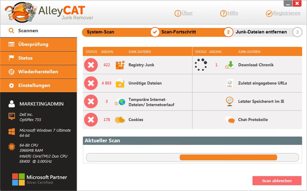 AlleyCAT Junk Remover Screenshot 3