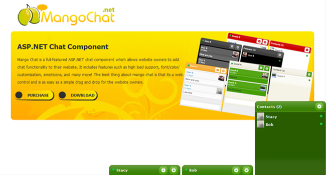 MangoChat Asp.net Ajax Chat Software Screenshot 2