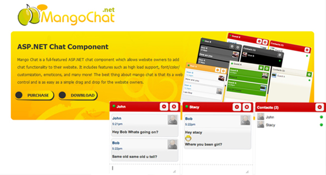 MangoChat Asp.net Ajax Chat Software Screenshot 3