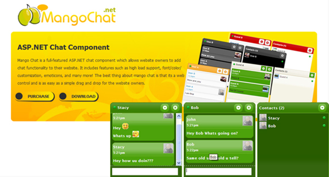 MangoChat Asp.net Ajax Chat Software Screenshot 1