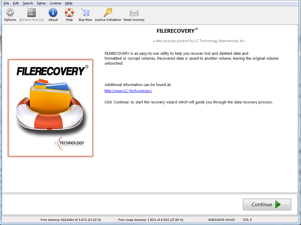 FILERECOVERY 2016 Standard Mac Screenshot 1
