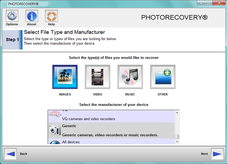 PHOTORECOVERY Standard 2016 for Windows Screenshot 2