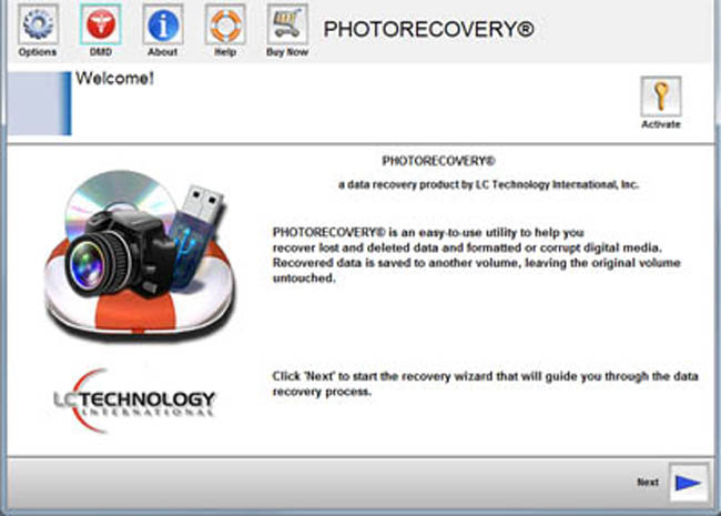 PHOTORECOVERY Standard 2016 for Windows Screenshot 1