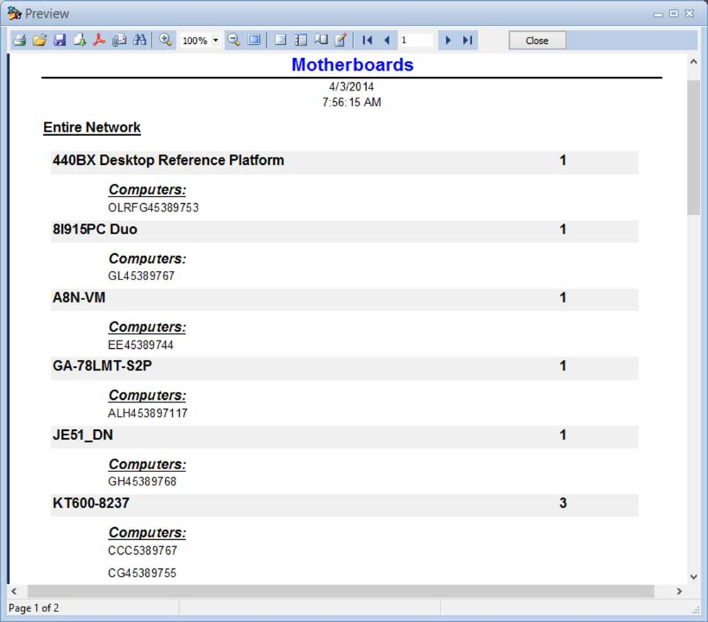 Expert Network Inventory Screenshot 3