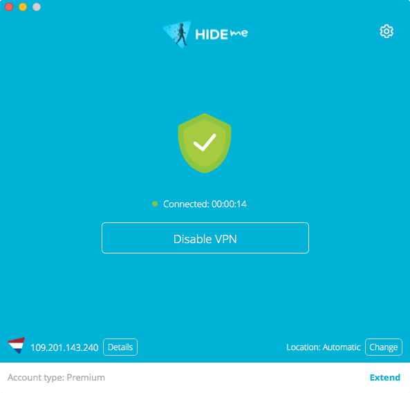 hide.me VPN for macOS Screenshot
