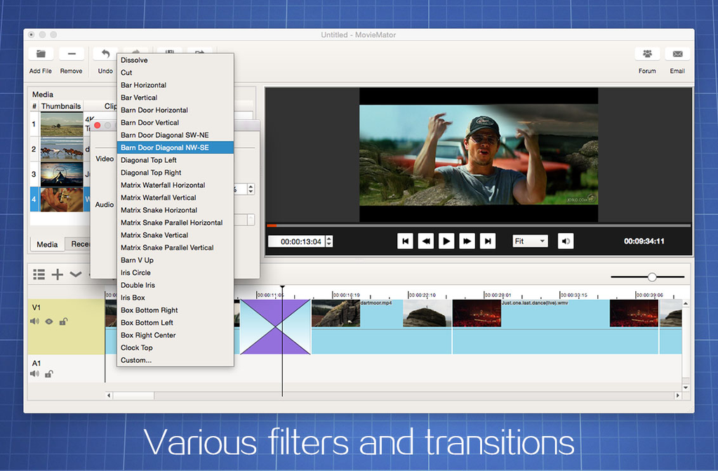 MovieMator Free Mac Video Editor Screenshot