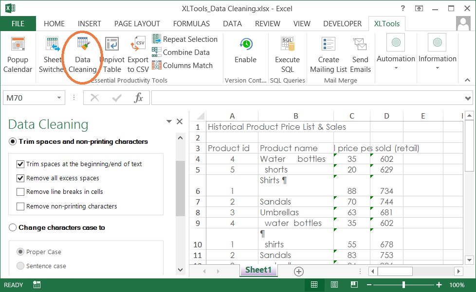 XLTools Add-in for Microsoft Excel Screenshot
