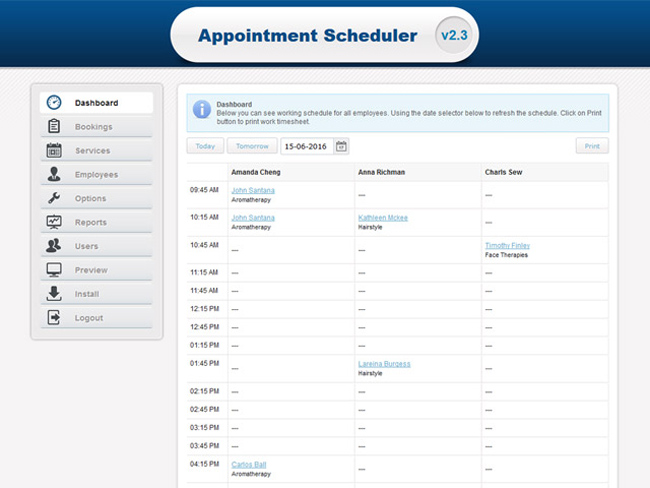 Appointment Scheduler Screenshot 2