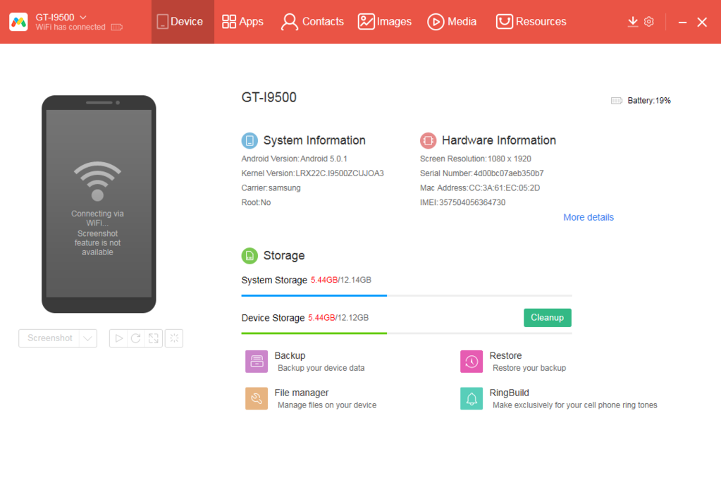 Android PC Sync Manager Screenshot 3