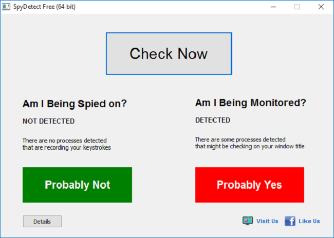 SpyDetect Free Screenshot 1