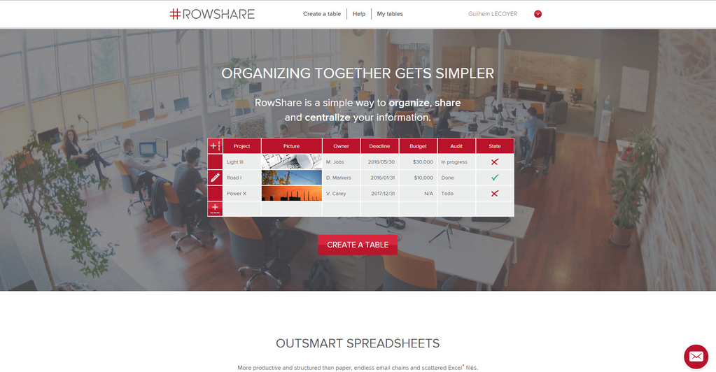 RowShare Screenshot