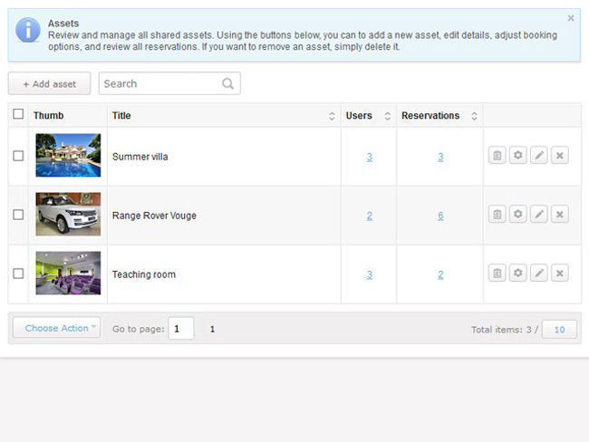 Shared Asset Booking System Screenshot 5
