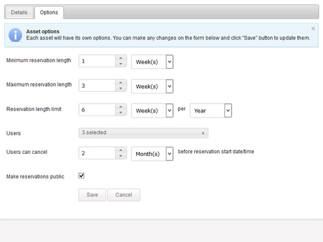 Shared Asset Booking System Screenshot 6