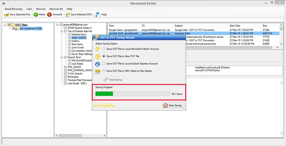 MagicSoft OST to PST Converter Screenshot 6