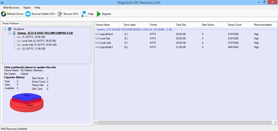 MagicSoft OST to PST Converter Screenshot