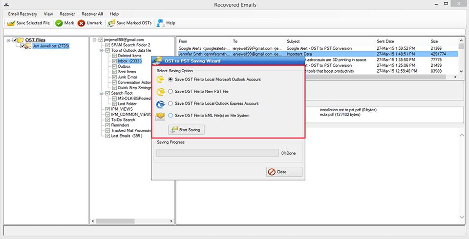 MagicSoft OST Recovery Screenshot 4