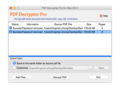 PDF Decrypter Pro for Mac OS X 1