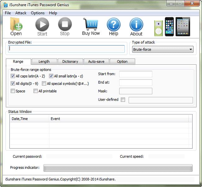 iSunshare iTunes Password Genius Screenshot 2