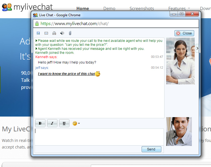 mylivechat Screenshot 3