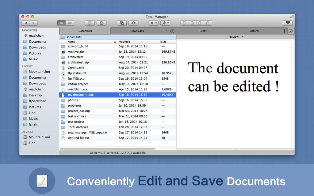 Total Manager for Mac Screenshot 4