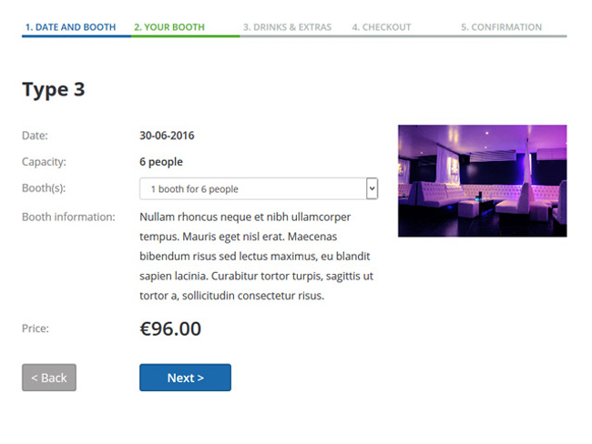 Night Club Booking Software Screenshot 2
