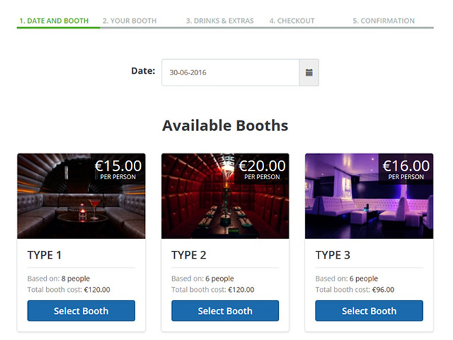 Night Club Booking Software Screenshot 1