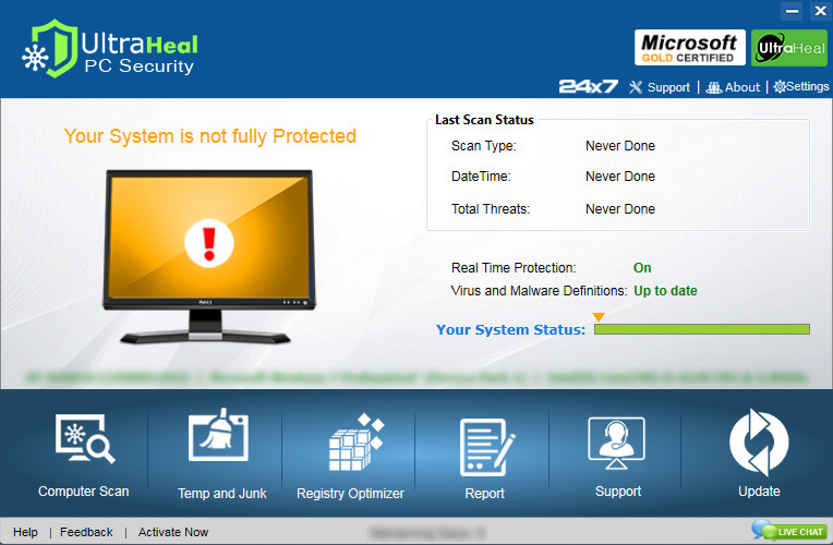 Ultraheal PC Security Screenshot