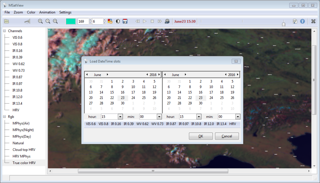 MSatView Screenshot