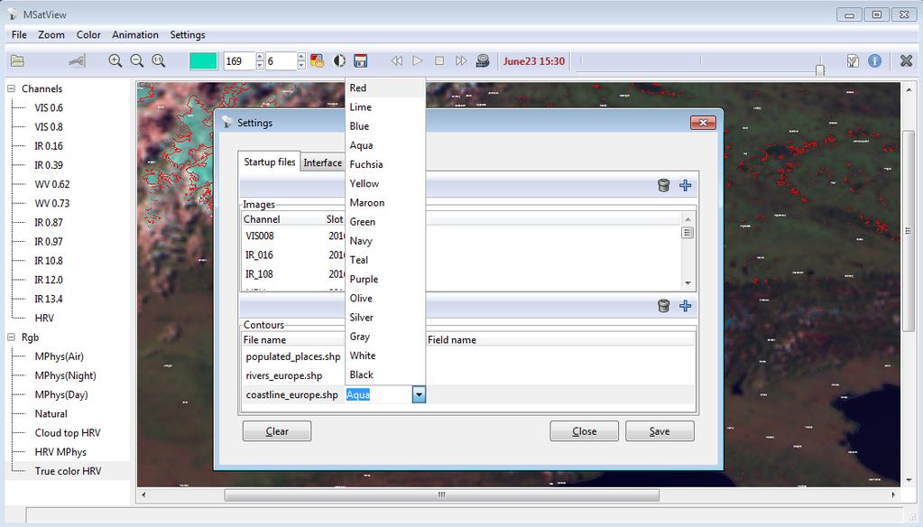 MSatView Screenshot 2