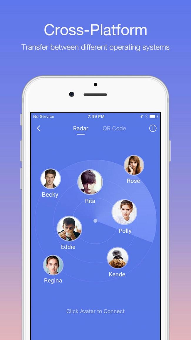 Zapya for iPhone Screenshot