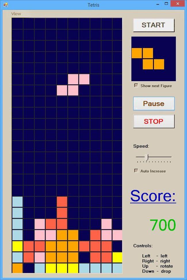 Simple Tetris Screenshot