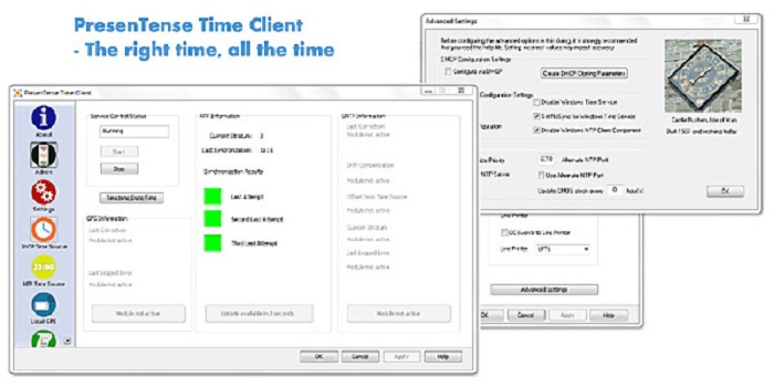 PresenTense Time Client Screenshot 1