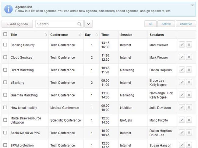 Conference Agenda Software Screenshot 7