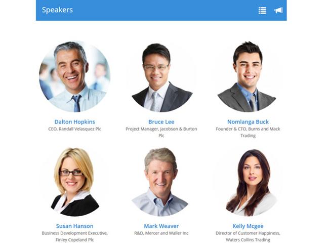 Conference Agenda Software Screenshot 2