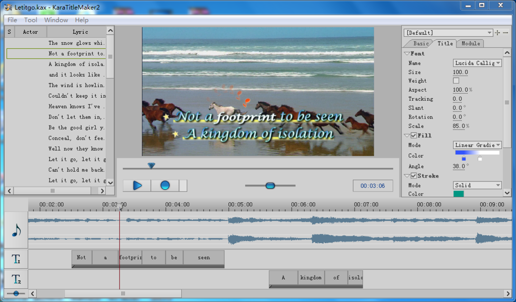 Sayatoo KaraTitleMaker2 Screenshot