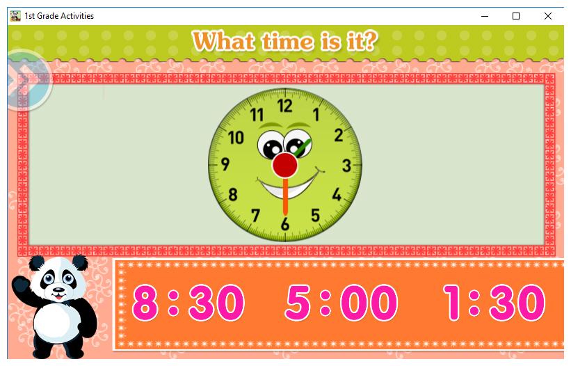 First Grade Activities Screenshot