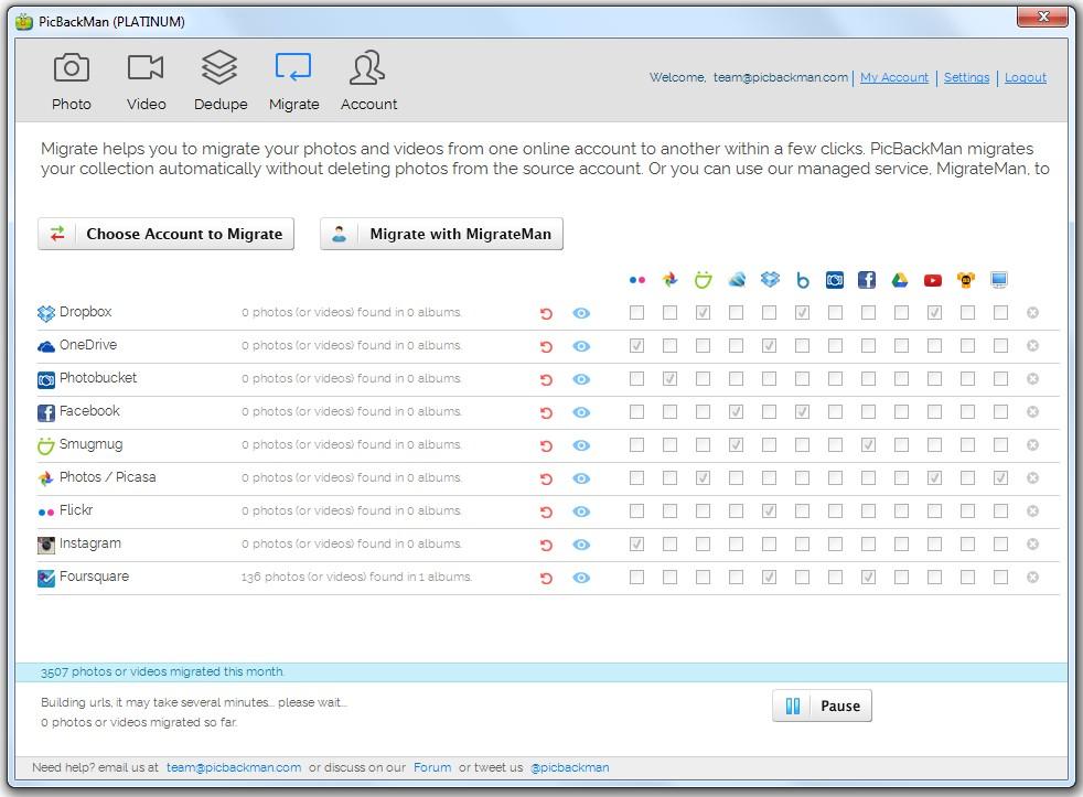 PicBackMan Screenshot 2