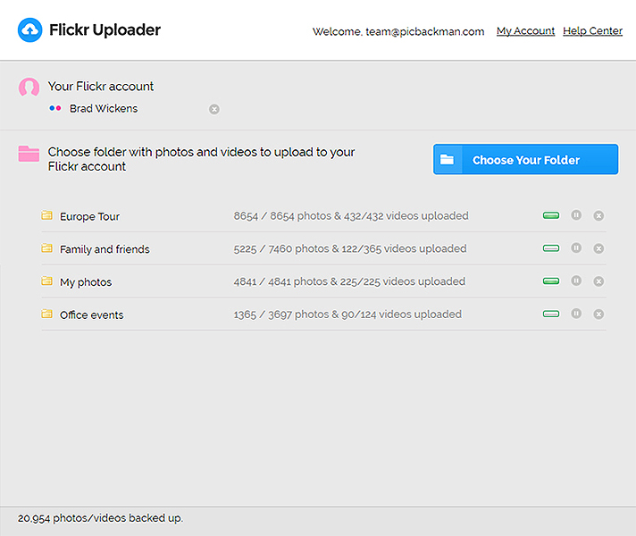 Flickr Uploader Screenshot
