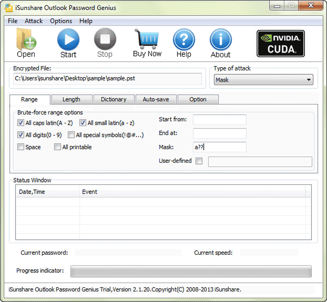iSunshare Outlook Password Genius Screenshot 1
