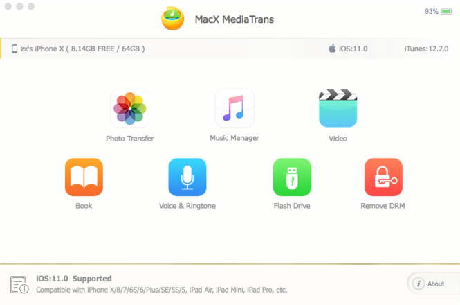 MacX MediaTrans Screenshot