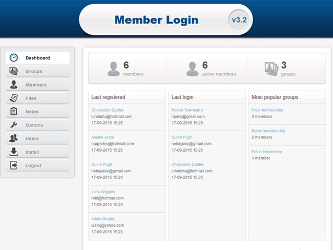 Member Login Screenshot 3