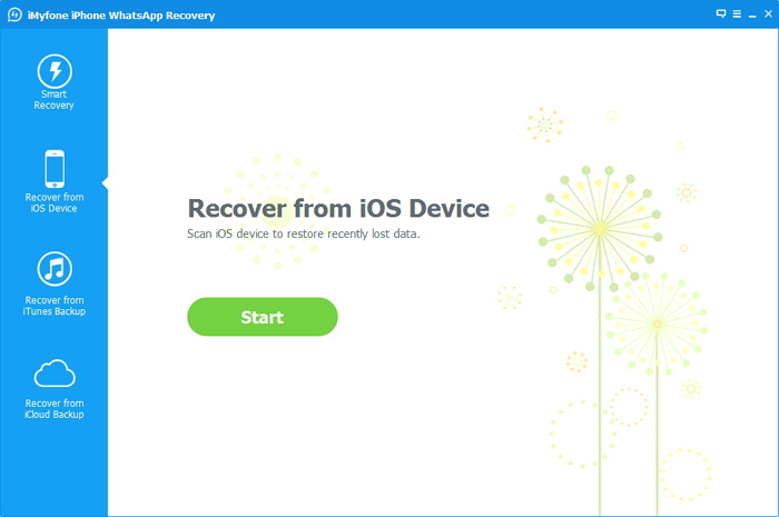 iMyFone iPhone WhatsApp Recovery Screenshot 2