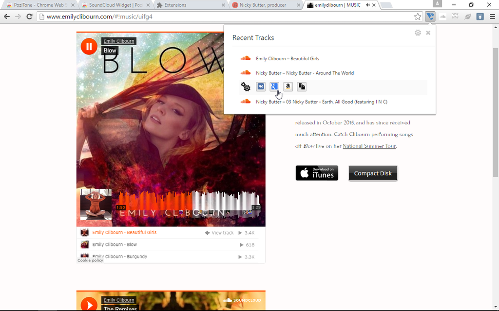 SoundCloud Widget | PoziTone module Screenshot 3