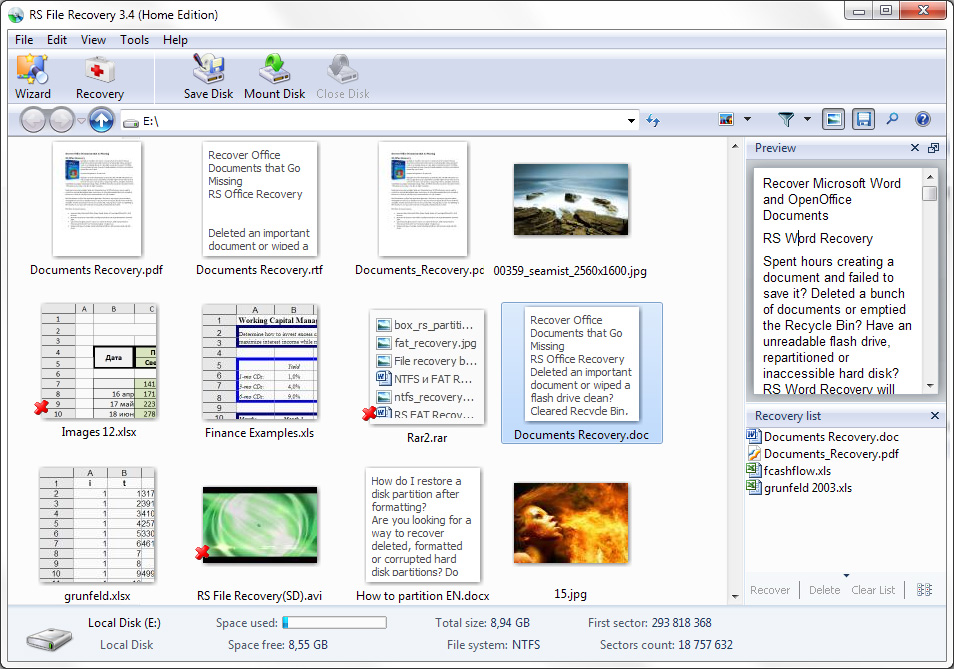 RS File Recovery Screenshot 1