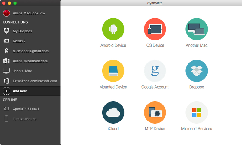 Android Sync Mac Screenshot 1