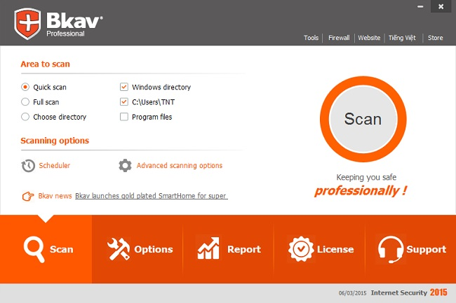 Bkav Internet Security Screenshot