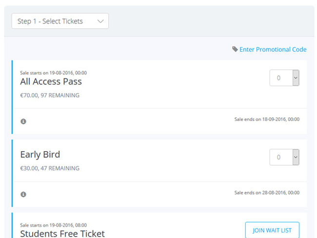 Event Ticketing System Screenshot